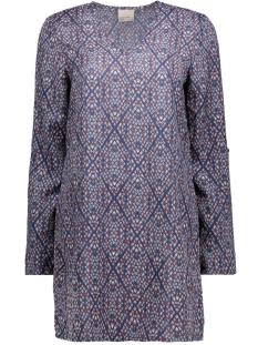 vmgrafika 3/4 mini dress 10170627 vero moda jurk navy blazer/grafika co