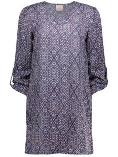 vmgrafika 3/4 mini dress 10170627 vero moda jurk navy blazer/grafika co