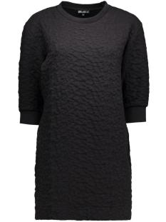 Juul & Belle Jurk QUILTED DRESS BLACK Black