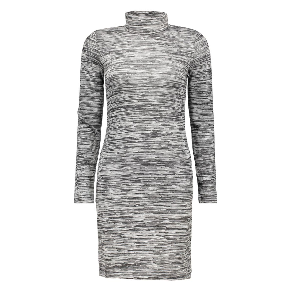 onlemilie roll neck l/s dress jrs r only jurk dark grey melange