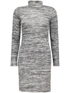 onlemilie roll neck l/s dress jrs r only jurk dark grey melange
