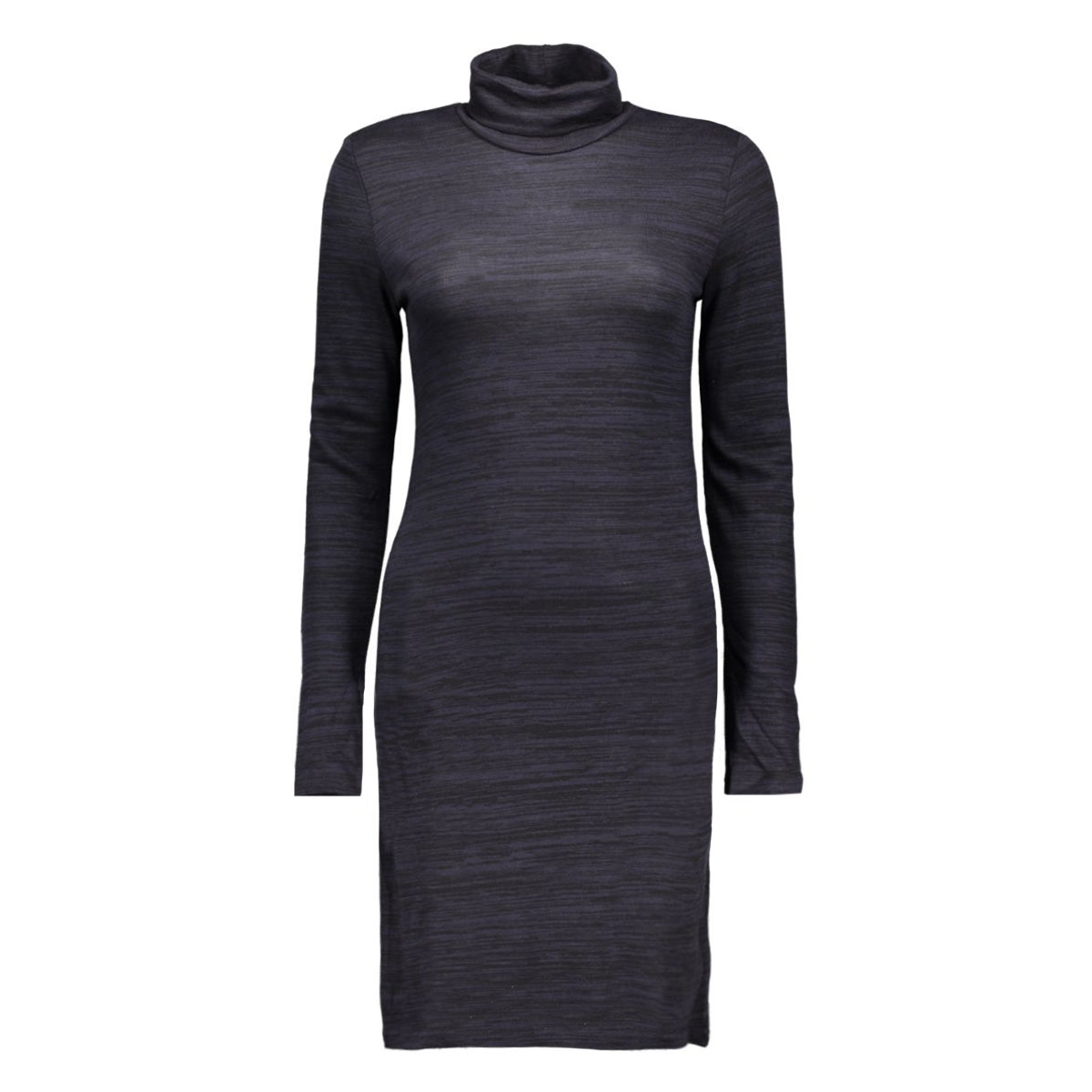 onlemilie roll neck l/s dress jrs r 15127114 only jurk night sky/black mela