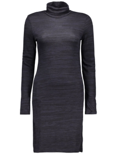 onlEMILIE ROLL NECK L/S DRESS JRS R 15127114 Night Sky/BLACK MELA