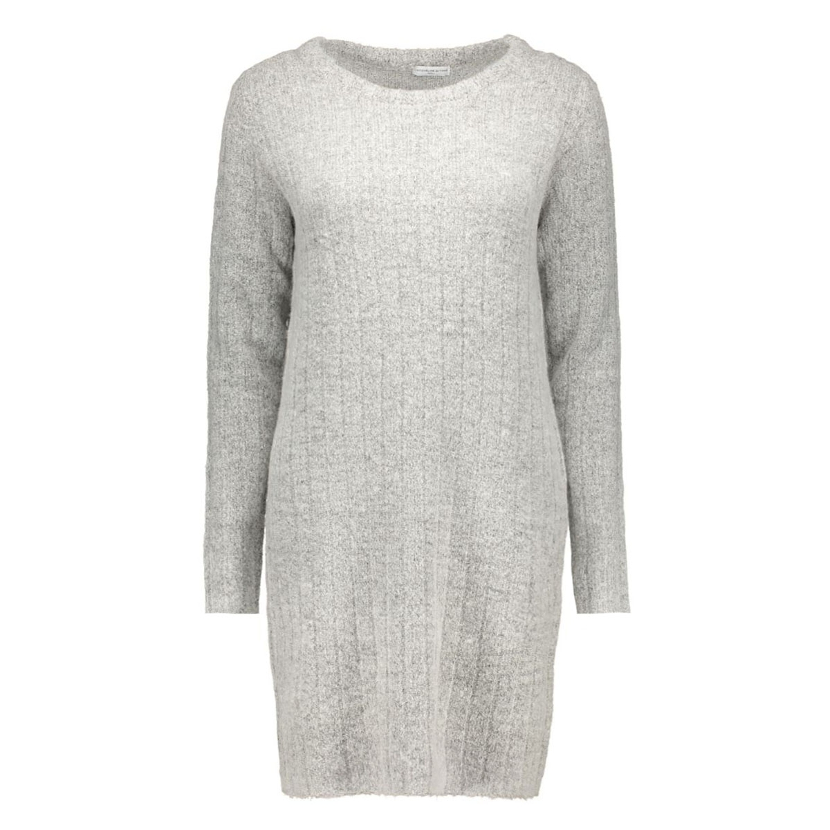 jdyraven l/s dress knt 15121489 jacqueline de yong jurk light grey melange