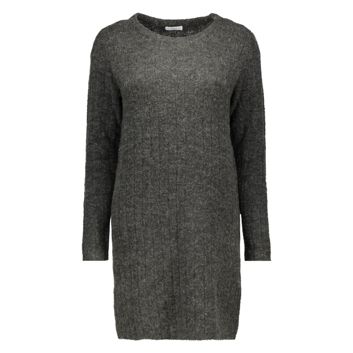 jdyraven l/s dress knt 15121489 jacqueline de yong jurk dark grey melange