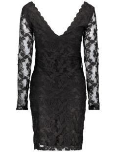 visenna l/s dress 14040283 vila jurk black