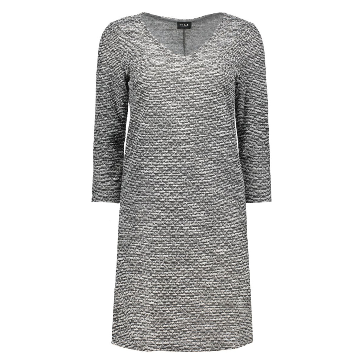 vilinde 3/4 sleeve dress 14037244 vila jurk ebony/black