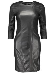 onllinn faux leather mix biker dress 15126958 only jurk black