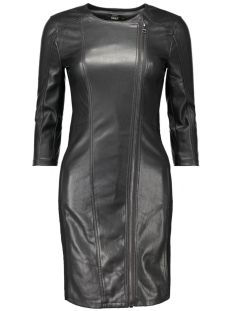 Only Jurk onlLINN FAUX LEATHER MIX BIKER DRESS 15126958 Black