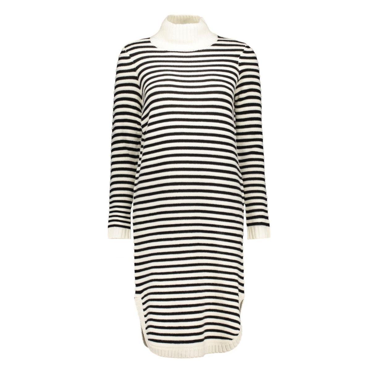 vmtrish ls rollneck dress dnm 10163661 vero moda jurk snow white