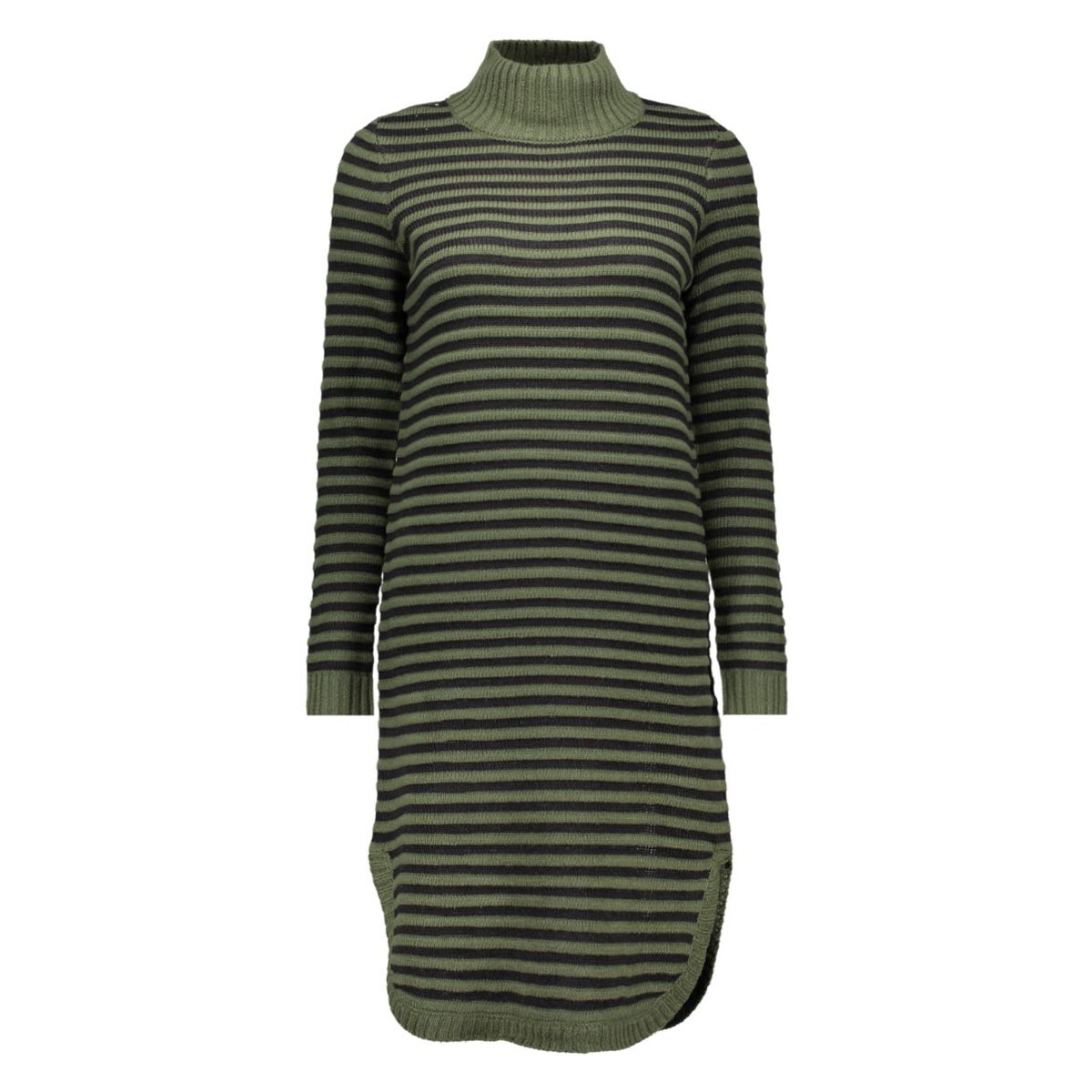 vmtrish ls rollneck dress dnm 10163661 vero moda jurk kombu green