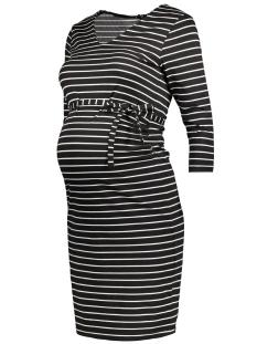 mlblackie 3/4 sleeve jersey dress str 20006933 mama-licious positie jurk black