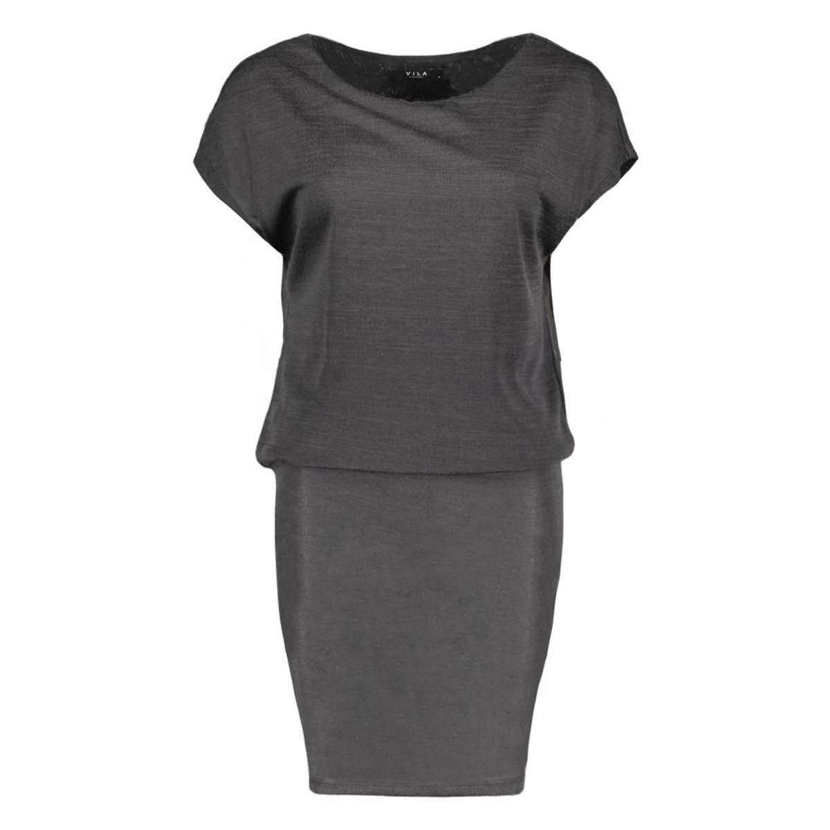 visissa dress 14038615 vila jurk dark grey melange