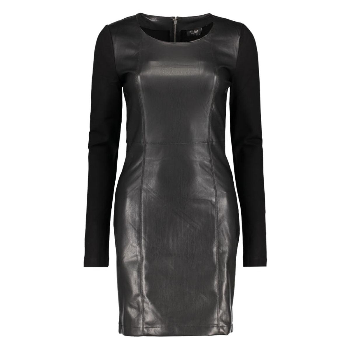 viclosing l/s dress/1 14038384 vila jurk black