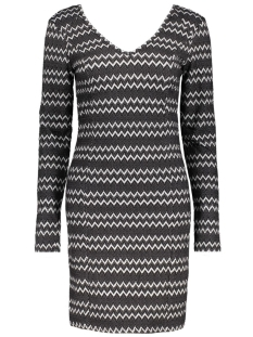 Vila Jurken VIRIGGA L/S DRESS 14037180 Black/Herringbon