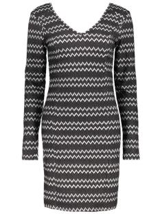 Vila Jurk VIRIGGA L/S DRESS 14037180 Black/Herringbon