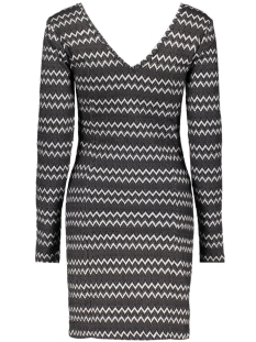 virigga l/s dress 14037180 vila jurk black/herringbon