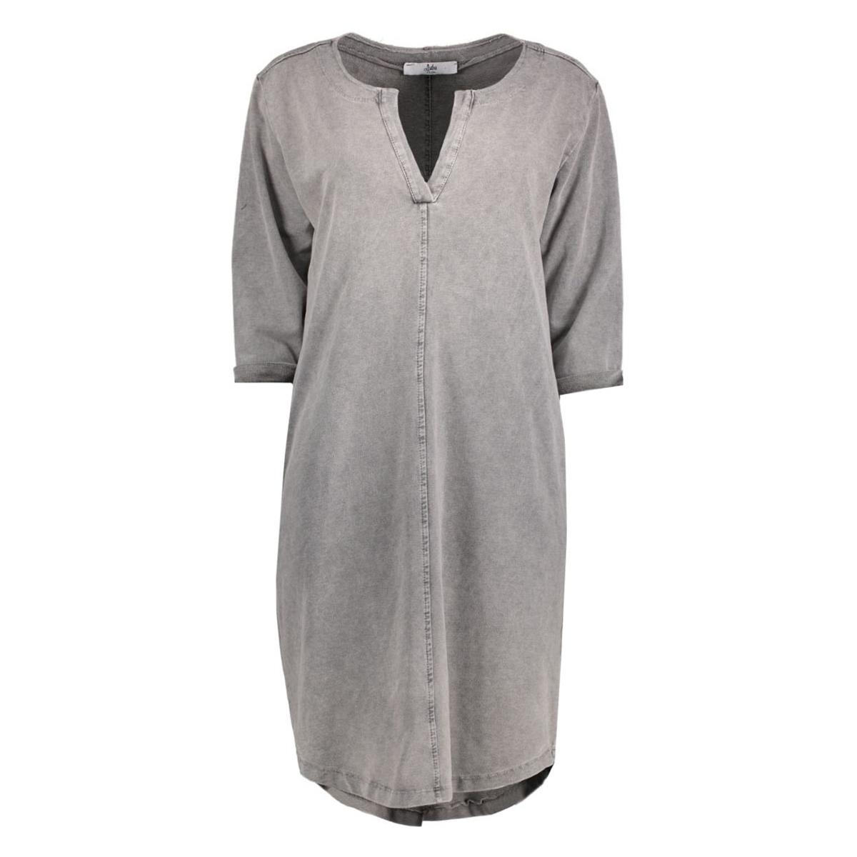 8135 dress v-neck luba jurk grey