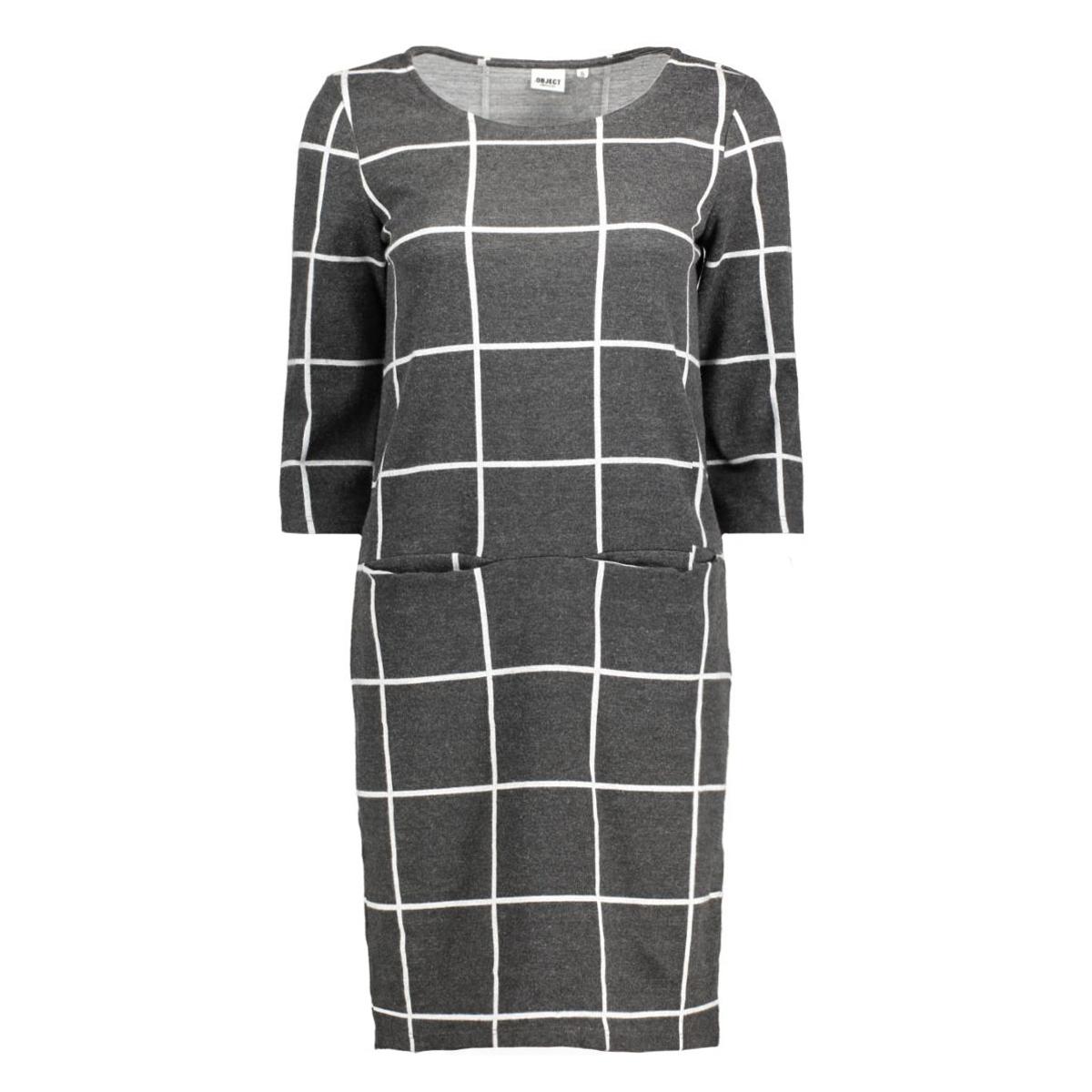 objmaxine bell dress 87 div 23023063 object jurk dark grey melange