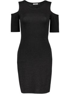 Only Jurk onlROMA LUREX 2/4 SHORT DRESS JRS 15126114 Black/Black Lure