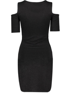 onlroma lurex 2/4 short dress jrs 15126114 only jurk black/black lure
