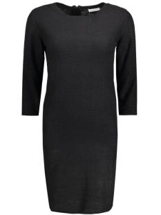 Jacqueline de Yong Jurk JDYMATHISON 3/4 ZIP DRESS KNT 15130606 Black
