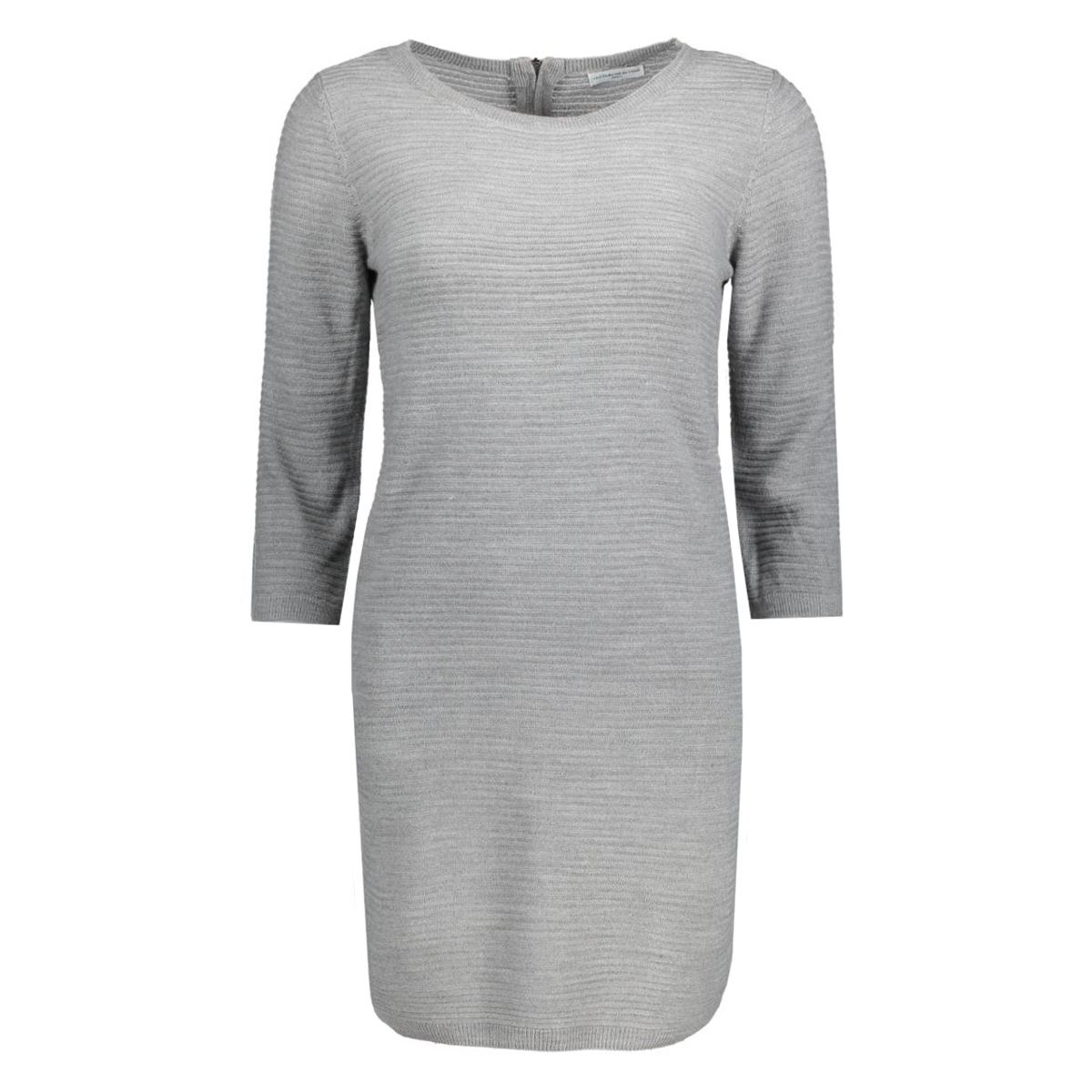 jdymathison 3/4 zip dress knt 15130606 jacqueline de yong jurk light grey melange