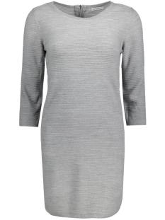 Jacqueline de Yong Jurk JDYMATHISON 3/4 ZIP DRESS KNT 15130606 Light grey melange