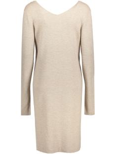 objnadine new v-neck knit dress 23023654 object jurk cobblestone