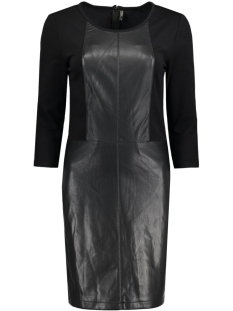 onlheather faux leather mix dress o 15126859 only jurk black