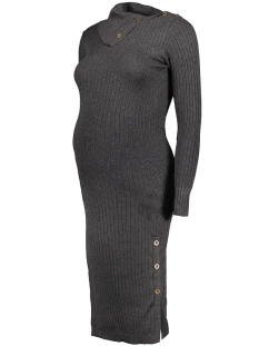 Mama-Licious Positie jurk MLMARIA L/S KNIT DRESS 20006690 Dark Grey Melange