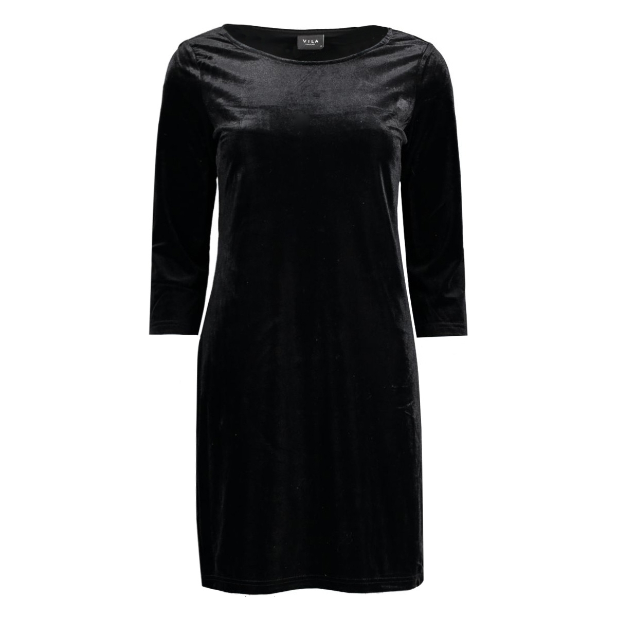 visienna 3/4 sleeve dress 14037826 vila jurk black