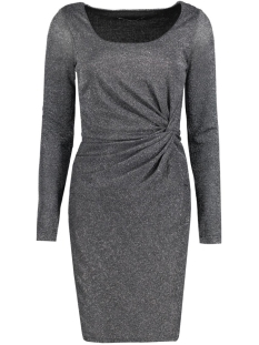 onlRAMONA L/S KNOT DRESS JRS 15125833 Black/Silver