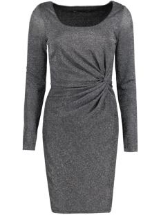 onlramona l/s knot dress jrs 15125833 only jurk black/silver