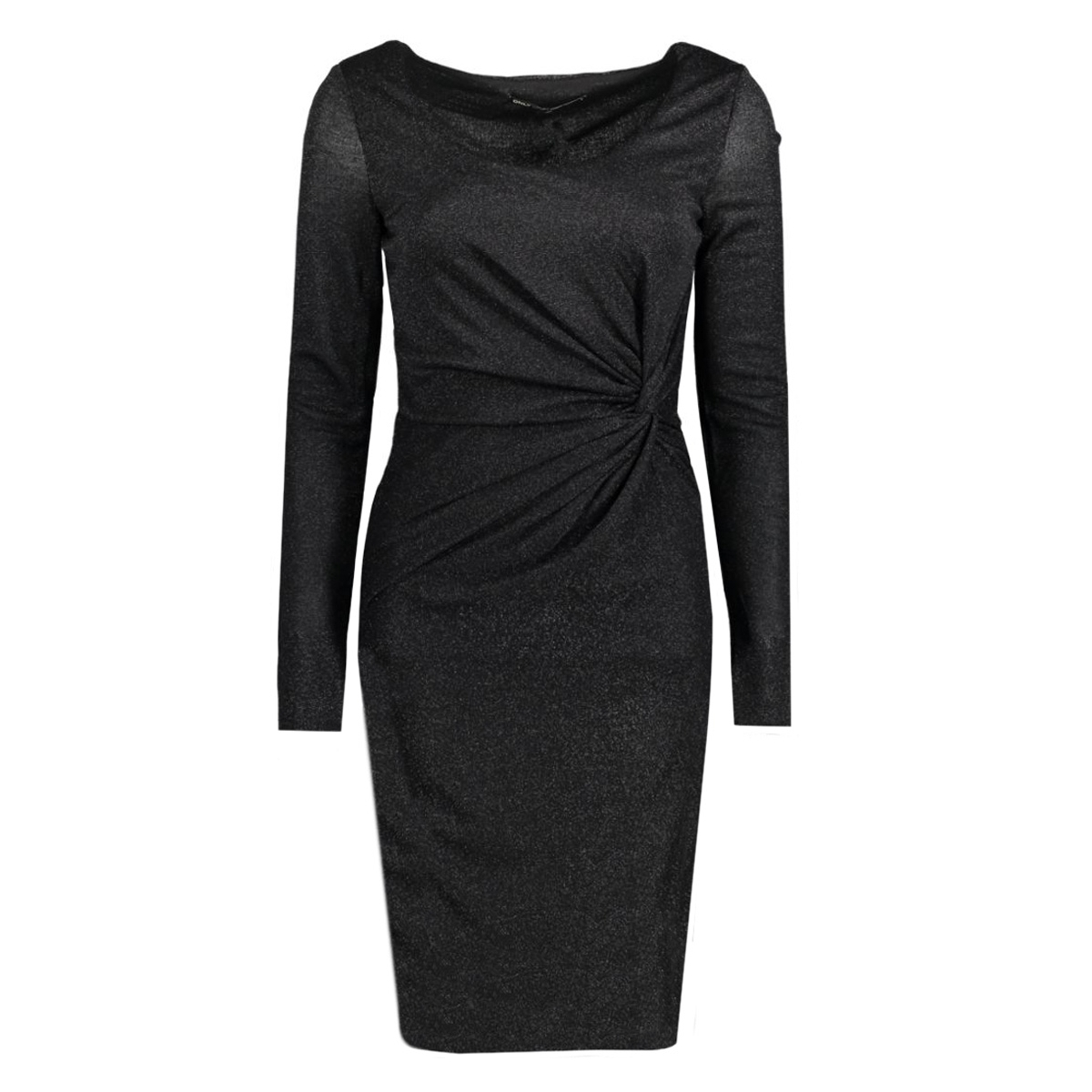 onlramona l/s knot dress jrs 15125833 only jurk black/black lure