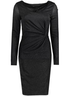 onlramona l/s knot dress jrs 15125833 only jurk black/black lure