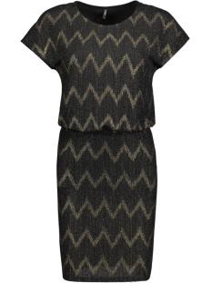 onlziva s/s dress jrs 15125840 only jurk black/gold