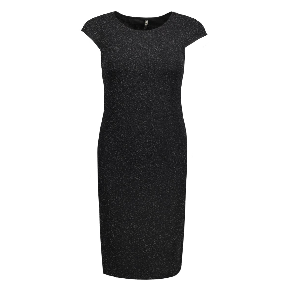 onlcharlot sl shiny dress ess rp 15129051 only jurk black/tonal lure