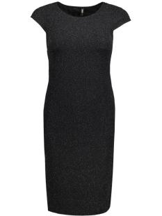 onlcharlot sl shiny dress ess rp 15129051 only jurk black/tonal lure