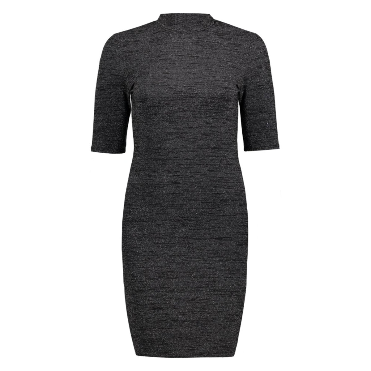 onlroma 2/4 turtleneck short dress 15131757 only jurk black/silver