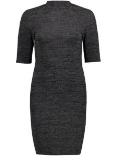 Only Jurk onlROMA 2/4 TURTLENECK SHORT DRESS 15131757 Black/Silver