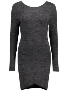 onlroma iso l/s  short dress jrs 15115904 only jurk black/silver