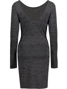 onlroma iso l/s  short dress jrs 15115904 only jurk black/silver