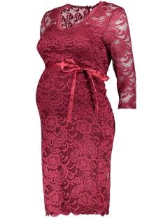 mlnewmivana 3/4 jersey dress 20006375 mama-licious positie jurk biking red