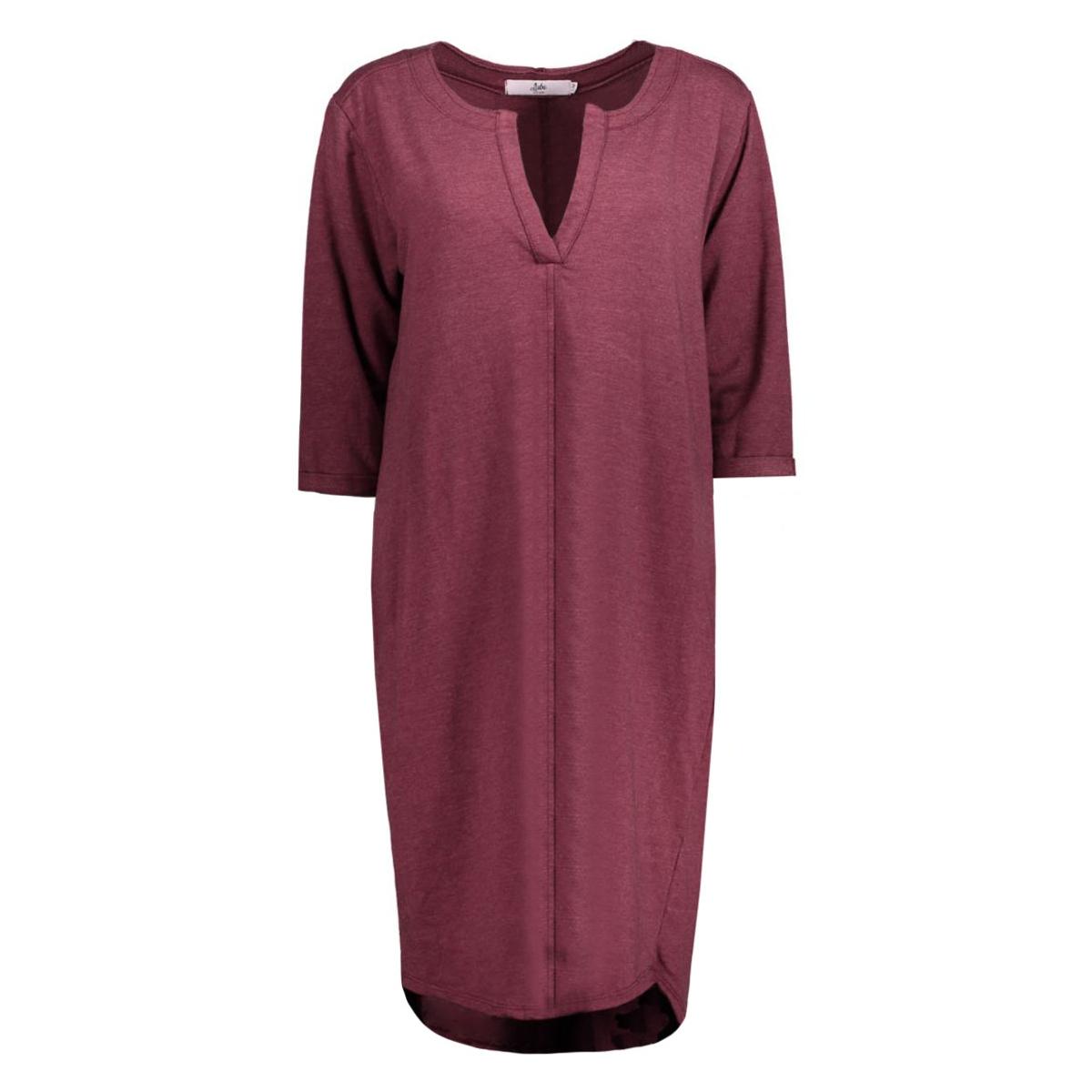 8135 dress v-neck luba jurk bordeaux