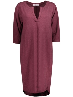 8135 DRESS V-NECK BORDEAUX