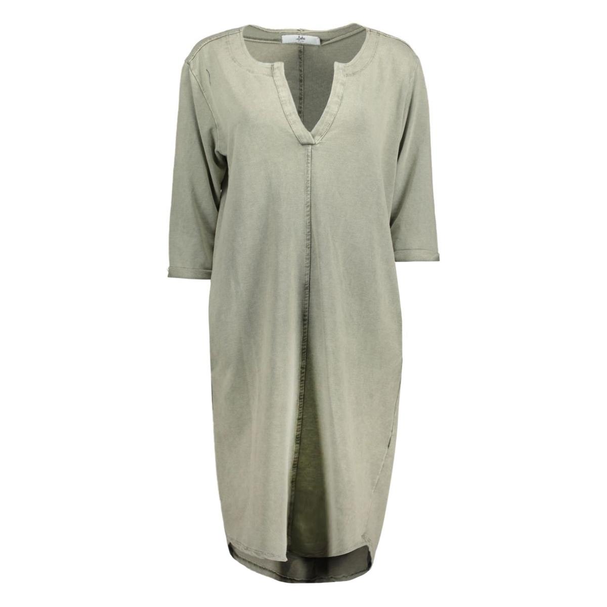 8135 dress v-neck luba jurk army