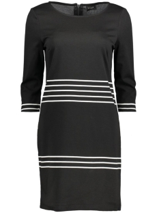 VITINNY 3/4 PORT STRIPE DRESS 14040871 Black/Snow White