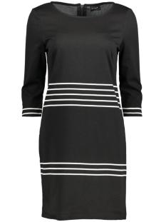 Vila Jurk VITINNY 3/4 PORT STRIPE DRESS 14040871 Black/Snow White