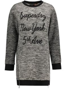 Superdry Jurk G80000HN CUT & SEW DRESS BLACK WHITE